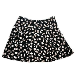 Loft women's skirt a line black blush print large